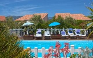 Location de vacances en Corse, la résidence Agula Mora piscine, proche de Porto Vecchio